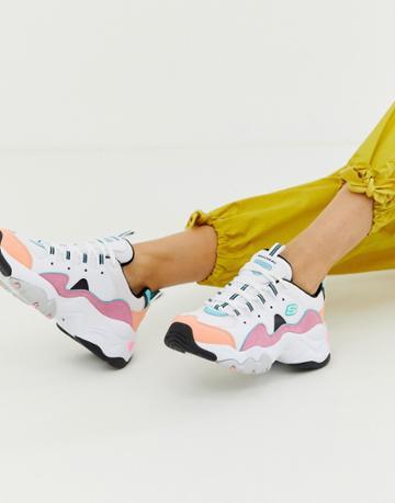 Skechers D'lite Chunky Sneakers 3.0 In Pastel - Multi