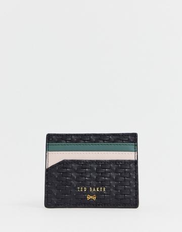 Ted Baker Mabes Raffia Card Holder - Black