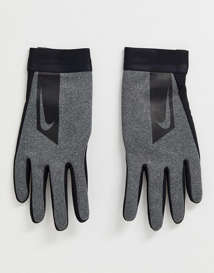 Nike Soccer Hyperwarm Academy Gloves In Gray
