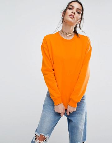 Asos Ultimate Oversized Sweat - Orange