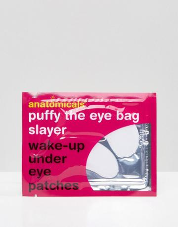 Anatomicals Puffy The Eye Bag Slayer Wake-up Under Eye Patches - Clear