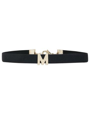 Accessorize Faux Suede M Initial Choker Necklace