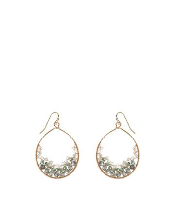 Accessorize Izzy Beaded Hoop Earrings