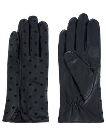 Accessorize Flock Star Leather Gloves