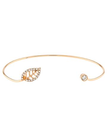 Accessorize Sparkle Leaf Open Cuff Bracelet
