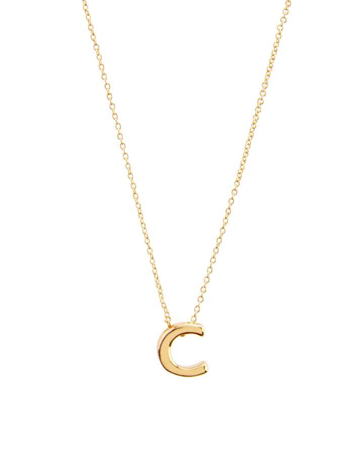 Accessorize Initial Pendant 'c' Necklace