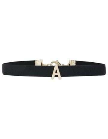 Accessorize Faux Suede A Initial Choker Necklace