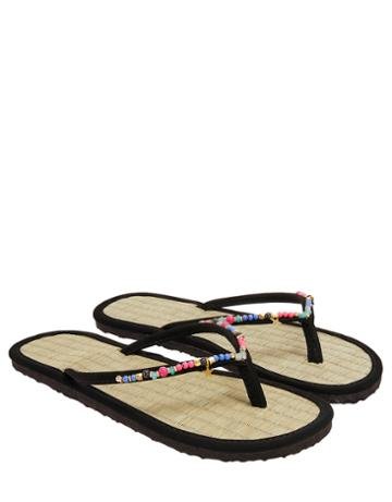 Accessorize Ole Beaded Seagrass Flip Flops