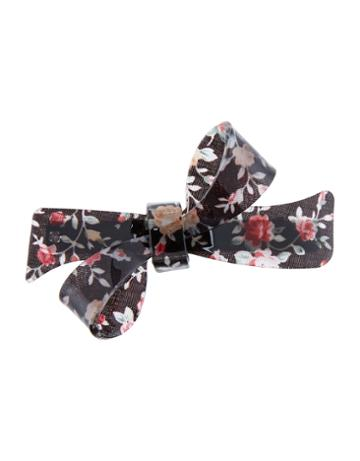 Accessorize Floral Bow Barrette Hair Clip