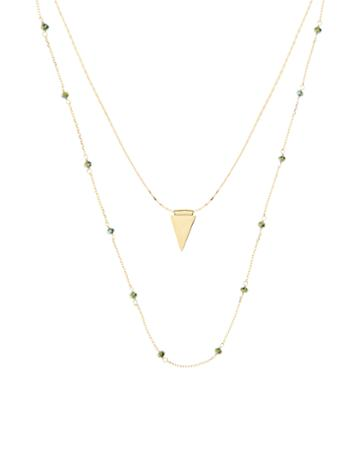 Accessorize Zara Triangle Layered Necklace