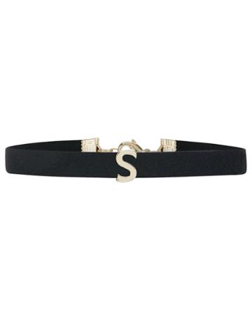 Accessorize Faux Suede S Initial Choker Necklace