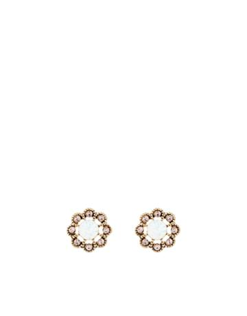 Accessorize Bejewelled Flower Stud Earrings