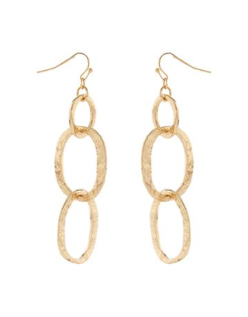 Accessorize Hammered Links Statement Earrings