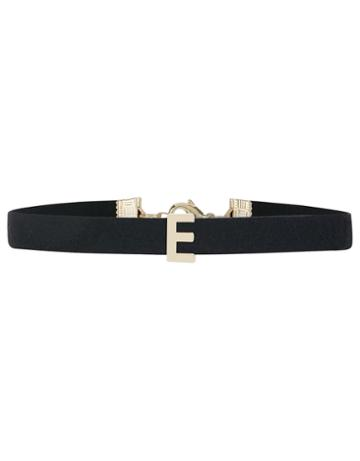 Accessorize Faux Suede E Initial Choker Necklace