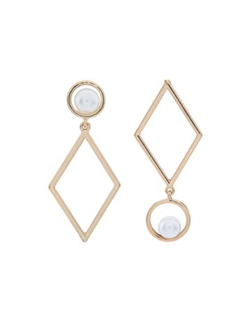 Accessorize Pearly Diamond Mis Match Earrings