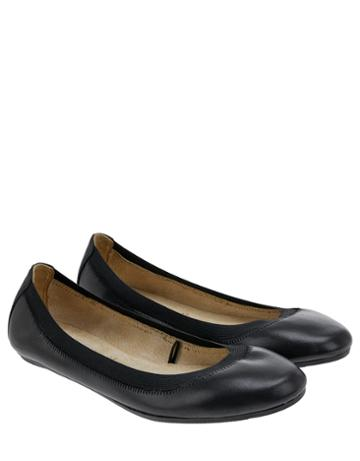 Accessorize Isabelle Elasticated Leather Ballerina Flat Shoes