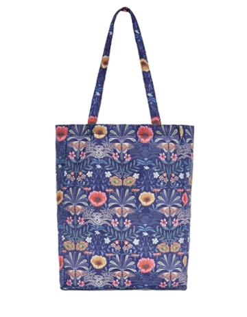 Accessorize Woodland Floral Packable Shopper Tote Bag