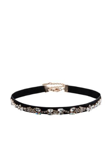 Accessorize Kim Velvet Jewelled Choker Necklace