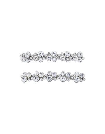 Accessorize 2x Crystal Barrette Hair Clips
