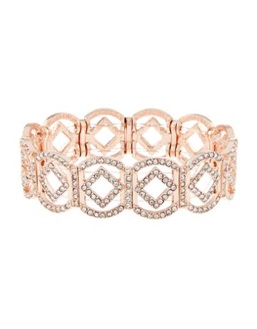 Accessorize Cut Out Diamond Stretch Bracelet