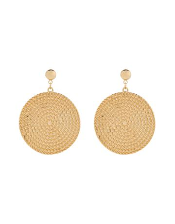 Accessorize Rope Disc Statement Earrings