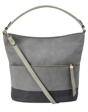 Accessorize Suedette Hobo Shoulder Bag