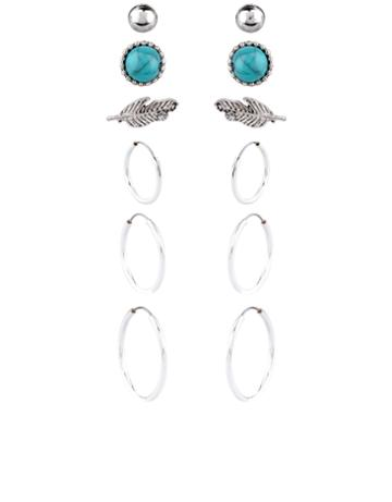 Accessorize Skyler Hoop And Stud Earrings Set