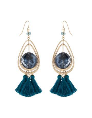 Accessorize Statement Stone Tassel Earrings