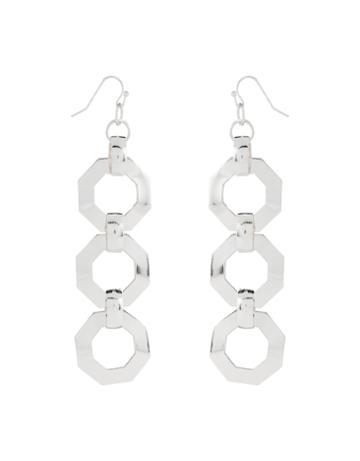 Accessorize Hexagon Linked Earrings