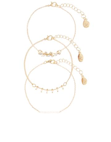 Accessorize Helena Delicate Clasp Bracelet Pack