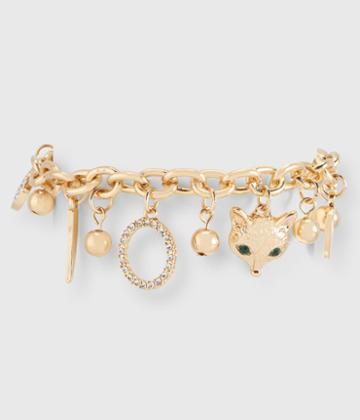 Aeropostale Aeropostale Charm Bracelet - Gold