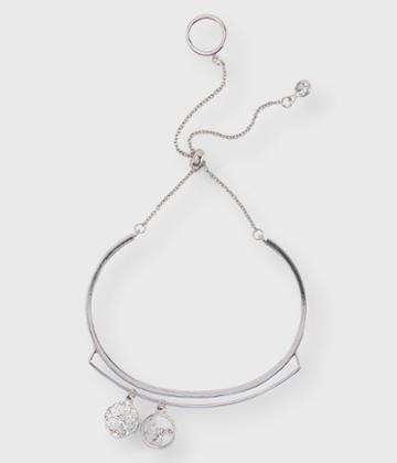 Aeropostale Aeropostale Charmed Adjustable Bracelet - Silver