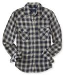 Aeropostale Long Sleeve Western Plaid Woven Shirt