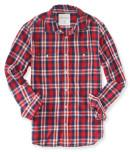 Aeropostale Long Sleeve Plaid Woven Shirt