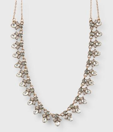 Aeropostale Aeropostale Flowerdrop Statement Long-strand Necklace - Gold