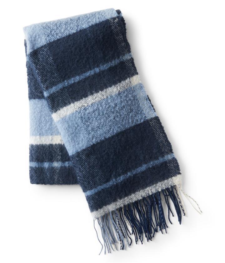 Aeropostale Aeropostale Plaid Blanket Scarf - Dark Blue