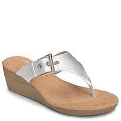 Aerosoles Flower Wedge, Silver Metallic