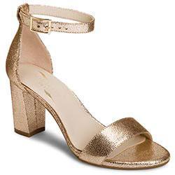 Aerosoles Bird Of Paradise Sandal, Gold Leather