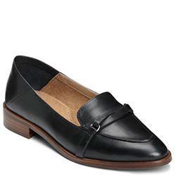 Aerosoles South East Loafer, Black Leather