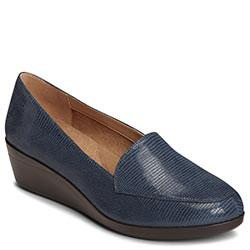 Aerosoles True Match Wedge, Navy Lizard
