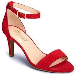 Aerosoles Laminate Sandal, Red Suede