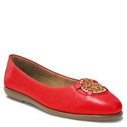 Aerosoles Exhibet Ballet Flat, Mid Red Leather