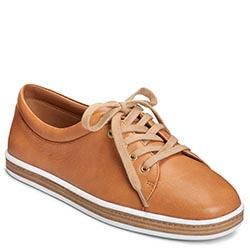 Aerosoles Function Sneaker, Tan Leather
