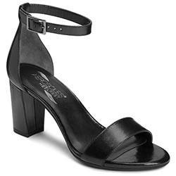 Aerosoles Bird Of Paradise Sandal, Black Leather