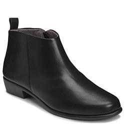 Aerosoles Step It Up Bootie, Black Leather