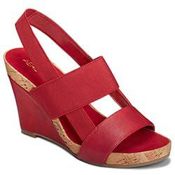Aerosoles Magnolia Plush Wedge, Red