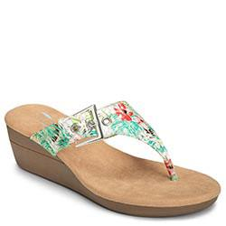 Aerosoles Flower Wedge, White Floral