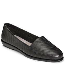 Aerosoles Ms Softee Slip-on, Black Leather