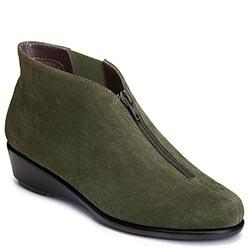 Aerosoles Allowance Wedge Boot, Dark Green Suede