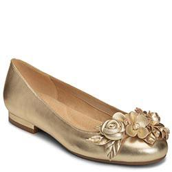 Aerosoles Do Good Flat, Gold Leather
